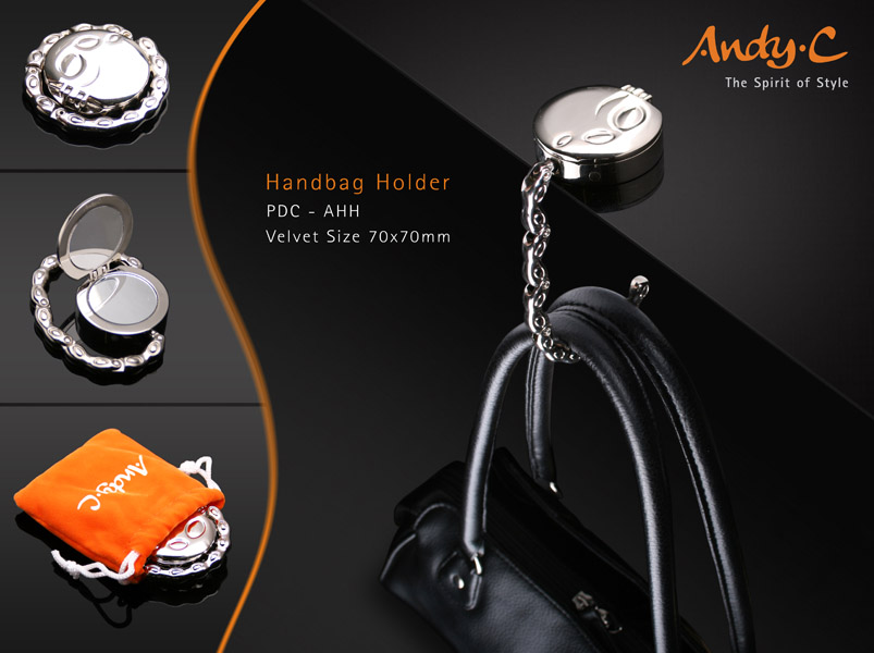 Andy C Pod Chrome Handbag holder