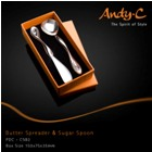 Andy C Pod Chrome Sugar spoon & butter spreader