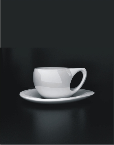Andy C Pod Porcelain Teacup & Saucer