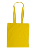 Coloured cotton exhibition/shopping bag with long handles 110gr/