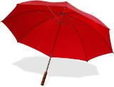 Golf size 190t nylon fabric umbrella with a metal shaft and wood
