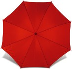 Classic 190t polyester fabric umbrella with a wooden shaft and h