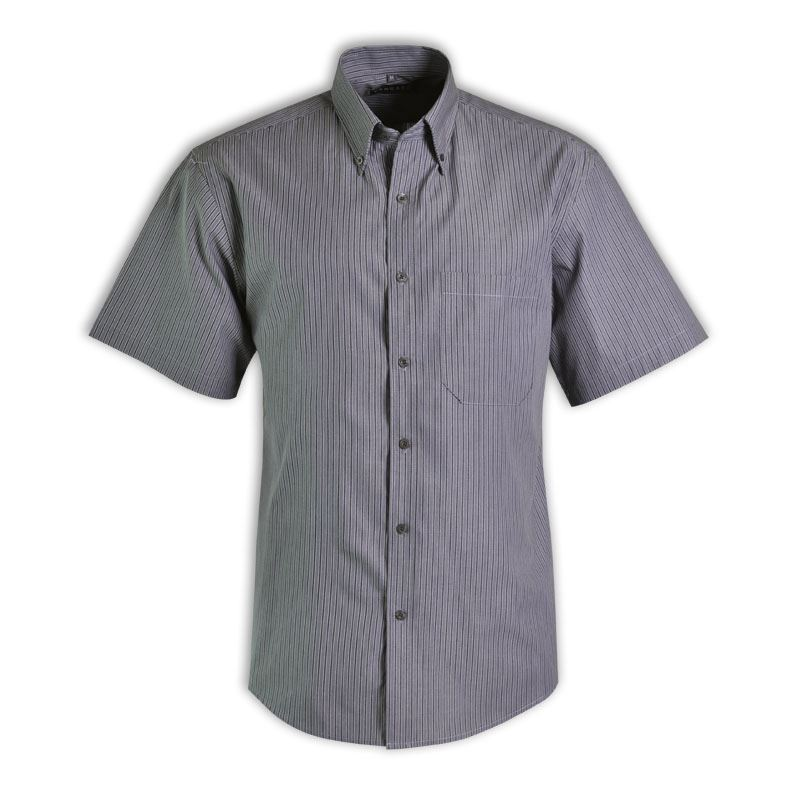 Cameron Shirt S/S - Stripe 6 - Avail in: Medium blue, Sky, Charc