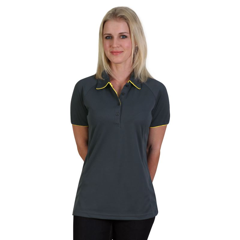 Ladies Legend Polo - Avail in: Graphite/Yellow, Navy/Lime, Black