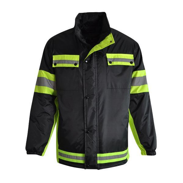 High Visibility Spark Jacket - Avail in: Black/Fluorescent Yello
