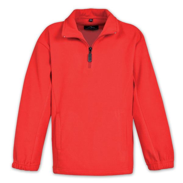 Youth Quarter Zip Fleece - Avail in: Black, Navy, Red ( Youth Si