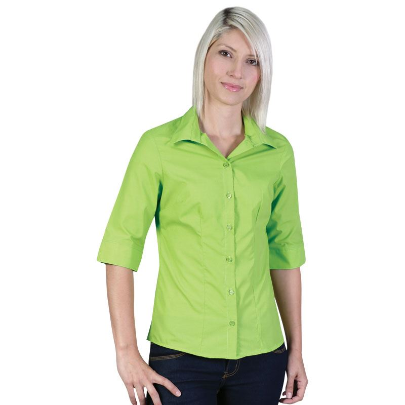 Ladies Icon Woven Shirt   - Avail in: White, Sky, Navy, Lime, Bl