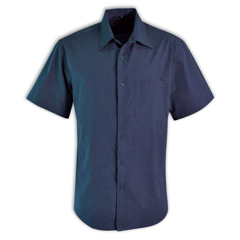 Matthew Shirt S/S - Check 1 - Avail in: Bottle, Black, Navy