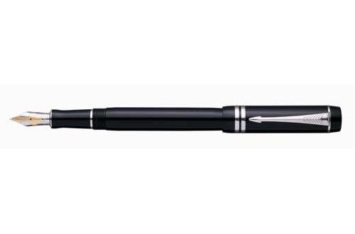 Parker Duofold Black Platinum Trim Fountain Pen