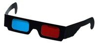 3D Glasses - Paper Type - Red / Cyan