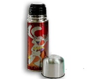 Mini Stainless Steel Thermos Flask - 350Ml - Silver