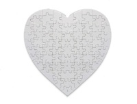 Puzzle - Glossy (For Sublimation Only) - Heart Shape - 75 Pieces