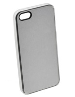 Unisub Iphone 5 Cover - Clear - With White Chromaluxe Metal Inse