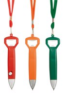 Neck Pen With Bottle Opener (Red)