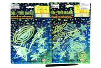 Toy Glow In The Dark On Card 2 Assorted - Min Order - 10 Units