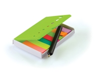 Sticky Note Holder with Mini Pen-Lime