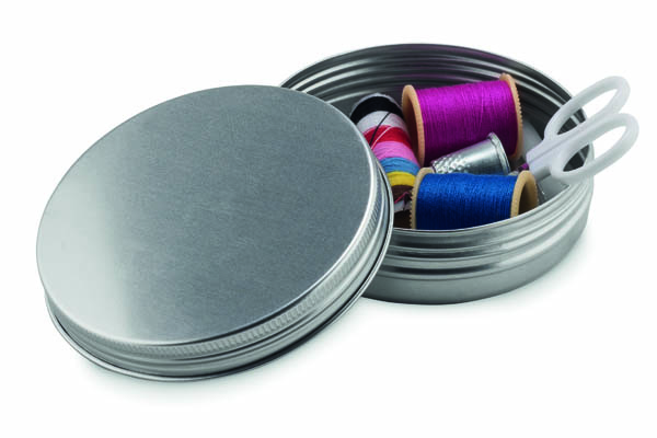 Sewing Kit in Tin - Silver