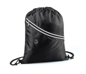 Two Tone Drawstring Backpack-Black