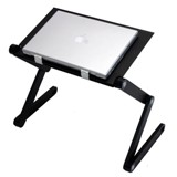 Laptop Table with Fan - Black