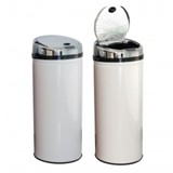 Sensor Dustbin 42ltr Round - Avail in Ssilver, red or White