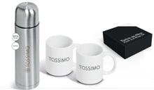 Twice-as-Nice Flask and Ceramic Mugs Set