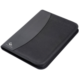 600D A4 zip around folder with notepad and several storage compa