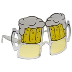 Novelty beer glass shaped sunglasses.