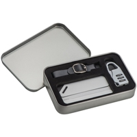Travel set with TSA lock and luggage tag