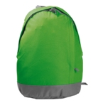 Polyester backpack with padded back.