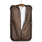 "Brown ""leatherette"" designer suit bag."