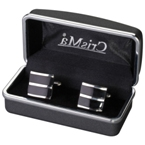 square shaped cufflinks.