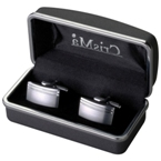 cufflinks in matt silver finish.