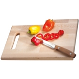 Beech tree wooden chopping board with built-in knife.