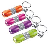 Bling metal torch key ring with gem stones.