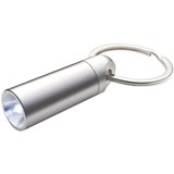 Compact LED metal key ring torch.