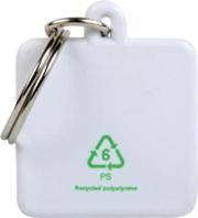 Eco friendly plastic key rings - made from recycled plastic.