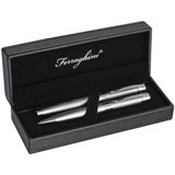 Ferraghini metal ball pen and roller ball pen set in a black box