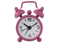Mini Twin Bell Alarm Clock  - Avail in Black, Blue, Lime, Orange