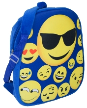 Emoji Backpack- Avail in: Blue or Pink