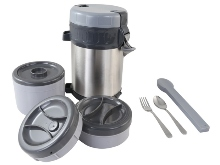 Stainless Steel Vacuum Food Container. Includes: Main Container,