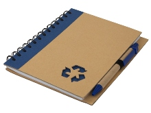 Thick Recycle Notebook & Pen- Avail in: Blue, Green or Black