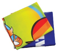 Fleece blanket with full color print