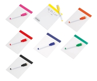 Magnetic Memo Board & Marker - Avail in: Pink, Black, Orange, Re