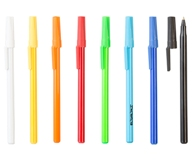 Black Ink Stick Pen - Avail in: Black, White, Orange, Red, Yello