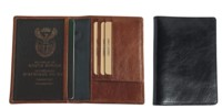Italian Leather Passport Holder  Black; Brown