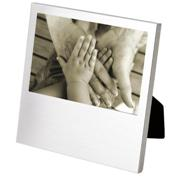 Dropped Bottom Brushed Aluminum 4x6 Photo Frame
