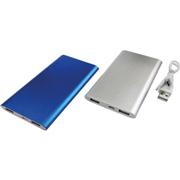 Slim Aluminium 4000 mAh PowerbankSilver or BlueSilver or Blue