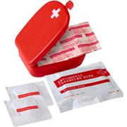 First Aid Kit in Plastic CaseRedRed