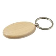 Oval Wooden Keychain