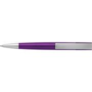 Silver Square Clip Ballpoint PenOrange, Burgundy, Black, Purple,